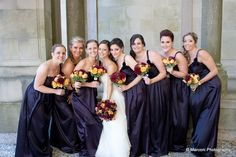 The bride stands with her #maidofhonor and #bridesmaids for a photo. www.SterlingBallroomEvents.com Photos courtesy of Marconi Photography. #bride #groom #wedding #weddingflowers #NJ #TintonFalls #MonmouthCounty #venue #ballroom #doubletreetintonfalls #marriage #love