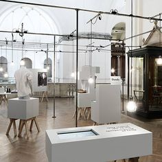 Swedish design studio Form Us With Love have completed the interior for an exhibition celebrating dapper gentlemen at Nordiska Museet in Stockholm, Sweden.