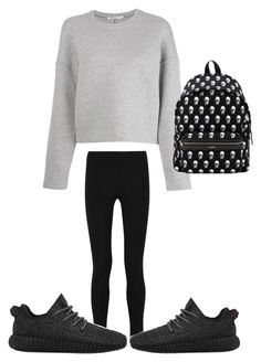"""Back to school"" by outfittideas on Polyvore featuring Joseph, T By Alexander Wang, Yves Saint Laurent and adidas"