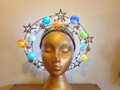 Crazy Hat Day, Crazy Hats, Space Costumes, Angel Halo, Skulls And Roses, Space Theme, Tiaras And Crowns, Solar System, Headdress