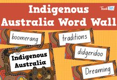 Indigenous Australia Word Wall :: Teacher Resources and Classroom Games Aboriginal Words, Aboriginal Language, Aboriginal Dreamtime, Aboriginal Education, Indigenous Education, Aboriginal Culture, Aboriginal Symbols, Class Displays, Classroom Displays