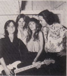 Stevie ~ ☆♥❤♥☆ ~ with Walter Egan and two of his band members; photo by Herbert W. Worthington 111