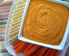 Best 20 hummus recipes without tahini: Roasted Red Pepper Hummus without Tahini recipe by Vanessas Values