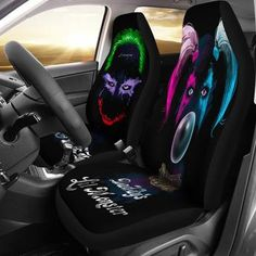 Car Seat Covers Cute Penguins Taking Pictures Protector Cushion Premium Cover for Women Men Girls Boys Fits Most Cars Truck SUV Van