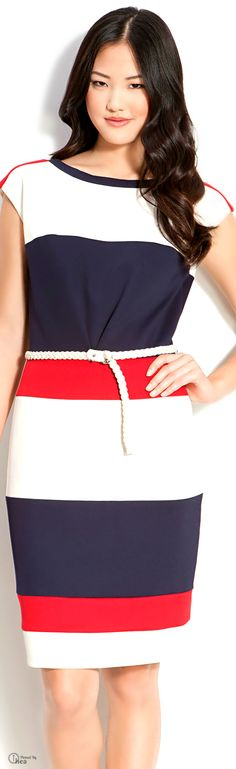 Maggy London ● Color-block Sheath Dress