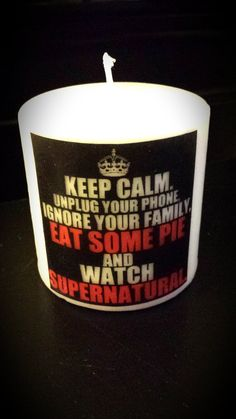 Supernatural Keep Calm and Eat Pie by HeathersCandles on Etsy, $10.00