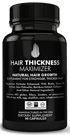 Hair Thickness Maximizer Natural Hair Growth Vitamins  For Stronger Thicker Hair MADE IN USA Combat Hair Loss  Thinning Hair SAFE Vegetarian Formula Enhanced With Biotin Horsetail Ext  More ** Continue to the product at the image link. Note: It's an affiliate link to Amazon #naturalhairregrowth