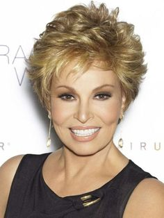 Short hair styles with curls for women over 50: