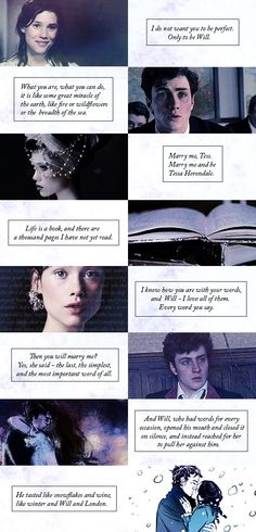 Will & Tessa ah! I love them! was definitely bawling my eyes out by the end of Clockwork Princess