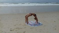 Wheel pose in surfers paradise 😊🌊
