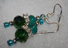 Patronize!!!! For Any Occasion Earrings Green Series by AshToTheLeyDArt on Etsy