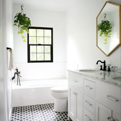 West Elm mirrors and tiles from @cementtileshop.