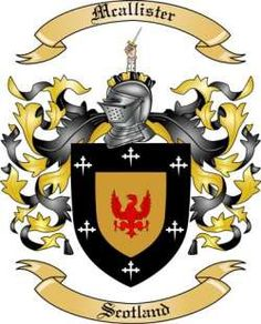 Mcallister Family Coat of Arms -Scotland