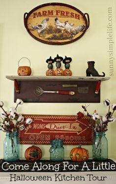 Halloween Vintage Kitchen Tour