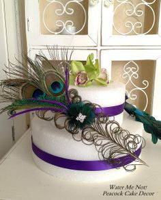 Customize this Stunning Peacock Cake Decoration by WaterMeNot, $20.00
