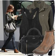 """""""lily collins shopping in beverly hills"""" by cla-90 on Polyvore"""