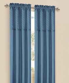 Take a look at this Blue Annecy Curtain Panel - Set of Two on zulily today!