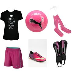 Soccer Outfit by kaycee-ames, via Polyvore