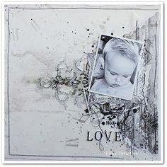 LOVE / Monochrome grey