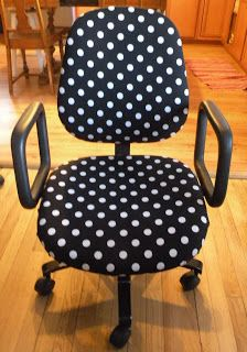 Love this!! I am so going to do this!!! Trash to Treasure Project-  Recover your old desk chair!