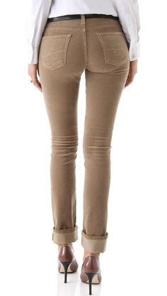 AG jeans accent my backside so well I would hope these would do the same - AG Adriano Goldschmied Ballad Slim Boot Cut Corduroy Pants