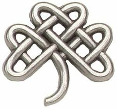 "Celtic Clover Knot Pin by Terra Sancta Guild. $4.75. 1"" Antiqued Silver Plated Zinc Alloy Celtic Clover clutch back pin."