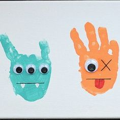 Lots of handprint crafts to do with kids!  For all holidays and interests!