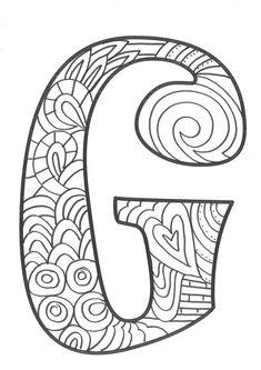 The super original mandaletras learn the alphabet - Educational Images Coloring Letters, Alphabet Coloring Pages, Alphabet Art, Coloring Books, Easy Coloring Pages, Coloring Pages For Girls, Coloring Pages To Print, Doodle Lettering, Hand Lettering