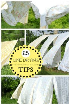 25 Tips for Line Drying your Laundry ~ Creative Cain Cabin We& putting a clothes line back in at L& Noire and I& so excited! Line Drying Clothes, Diy Clothes, Laundry Hacks, Living At Home, Natural Cleaning Products, Cleaning Hacks, Cleaning Solutions, Homemaking, Clean House