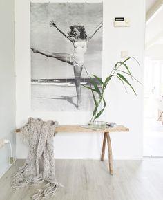 Ik ben fan van een grote foto aan de muur, zeker als er beweging in zit.