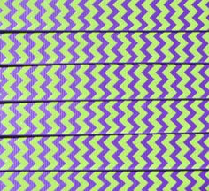 Lime sparkly chevron printed on purple 7/8  by IsamayDesigns