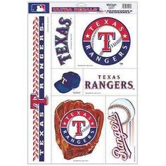 """TEXAS RANGERS ULTRA DECALS 11""""X17"""" BRAND NEW SHIPPING"""