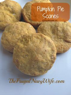 Pumpkin Pie Scones with Apple Butter  l  The Frugal Navy Wife