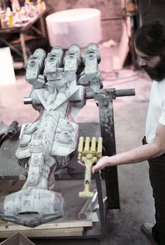 Putting the finishing touches on the Rebel blockade runner Tantive IV for Star Wars