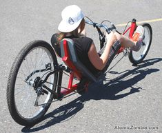 Get exercise and enjoy the outdoors on your recumbent lowracer.