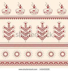 Stock Photo and Image Portfolio by nisha_images Worli Painting, Fabric Painting, Fabric Art, Saree Painting Designs, Painting Patterns, Madhubani Art, Madhubani Painting, Tribal Print Pattern, Rangoli Patterns