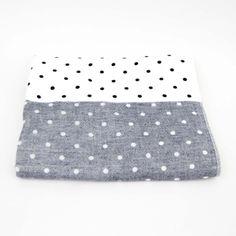 Yoshii Polka Dot Chambray Bath Towel $61