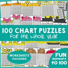 100 Chart Activities for the Year!