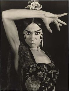 Manuela Vargas, flamenco dancer, by Therese Le Prat