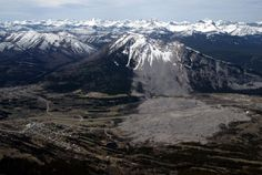 The Frank Slide, Turtle Mountain, Crowsnest Pass, Alberta, Canada.