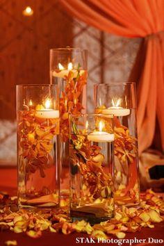 faLL wedding reception decorations | Orange and Gold Wedding Decor http://www.maharaniweddings.com/2013/01 ...