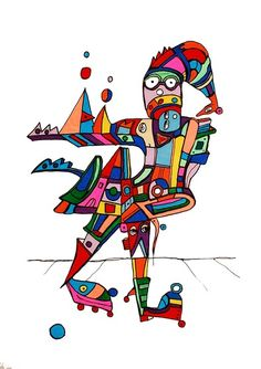 Pylokraten I von Etelka Kovacs-Koller - mad for art auf DaWanda.com Shops, Illustration, Artworks, Mad, Etsy, Drawing S, Tents, Retail, Illustrations