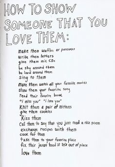 show someone you love them