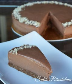 Igaz, hogy rengeteg nutella van benne, de mégsem az a tömény édesség. Hungarian Cake, Cake Cookies, Cake Designs, Sweet Recipes, Cookie Recipes, Food To Make, Fudge, Food And Drink, Favorite Recipes