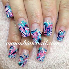 Japanese Nail Art www.himenail.com  Tustin CA OrangeCounty #HimeNail #HimeNails #GelNail #Manicure #NailArt