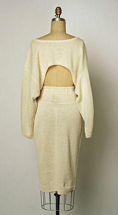 Dress Azzedine Alaïa (French, born Tunisia, 1940) cotton, linen 80s