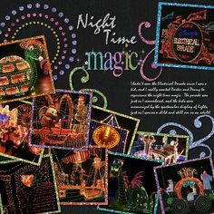 Electrical Parade by TheWerners.  I have always wondered what types of pages the glitter papers could be used to create.  Stunning!