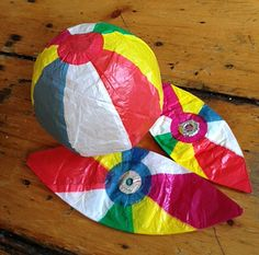 Japanese paper beach balls. When I was in San Francisco two weeks ago, I made my regular pilgrimage to the General Store in the Sunset.