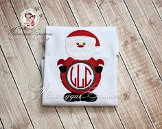 Christmas Santa Monogram Shirt - Christmas Custom shirt - Boy Christmas Shirt - Boy Christmas Shirt on Etsy, $24.99