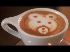 How to Etch a Bear   Latte Art - YouTube